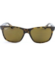 RayBan RB4181 57 Highstreet Light Tortoiseshell 710-83 Polarized Sunglasses