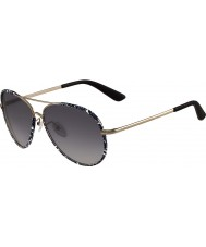 ETRO Ladies ET100S Black Gold Sunglasses