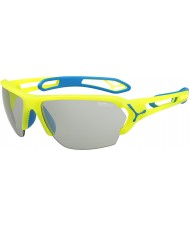 Cebe S-Track Large Pro Neon Yellow Variochrom Perfo Sunglasses