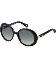 MaxMara Ladies MM Hinge 807 VK Black Sunglasses