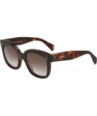 Celine Ladies CL 41805-S 05L HA Tortoiseshell Sunglasses