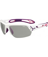 Cebe S-Track Medium White Purple Variochrom Perfo Sunglasses