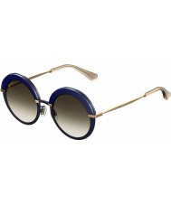 Jimmy Choo Ladies Gotha-S 3UE JS Blue Gold Sunglasses