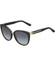 Jimmy Choo Ladies Dana-S 10E HD Black Sunglasses