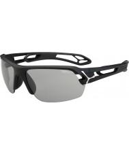 Cebe S-Track Medium Matt Black Variochrom Perfo Sunglasses