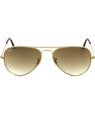 RayBan RB3025 58 Aviator Large Metal Gold 001-51 Sunglasses