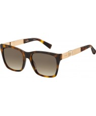 MaxMara Ladies MM Stone I HWH JD Havana Gold Sunglasses
