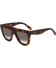 Celine Ladies CL 41398-S 05L Z3 Havana Sunglasses