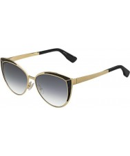 Jimmy Choo Ladies Domi-S PSU 9C Gold Black Sunglasses