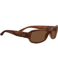 Serengeti Chloe Shiny Honey Stripe Tortoiseshell Polarized Drivers Sunglasses