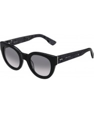 Jimmy Choo Ladies Eda-S J3L EU Black Spotted Sunglasses