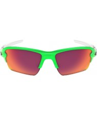 Oakley OO9188-43 Flak 2.0 XL Green Fade - Prizm Field Sunglasses