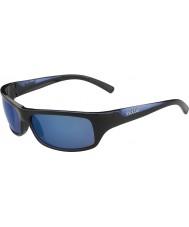 Bolle Fierce Shiny Black Blue Polarized Offshore Blue Sunglasses