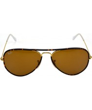 RayBan RB3025JM 58 Aviator Full Color Arista Brown 001 Sunglasses