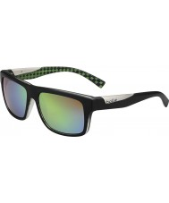 Bolle Clint Matt Black Lime Polarized Brown Emerald Sunglasses