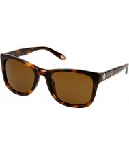 Givenchy Ladies SGV874-09AJ Brown Havana Sunglasses