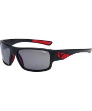 Cebe Whisper Matt Black Red 1500 Grey Polarized Flash Mirror Sunglasses
