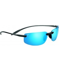 Serengeti Lipari Shiny Hematite Polarized PhD 555nm Blue Mirror Sunglasses