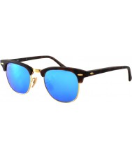 RayBan RB3016 Clubmaster Sand Tortoiseshell - Blue Mirror