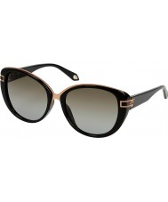 Givenchy Ladies SGV876-700 Black Sunglasses