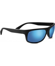 Serengeti Misano Satin Black Polarized PhD 555nm Blue Mirror Sunglasses