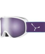 Cebe CBG60 Striker M White and Violet - Dark Rose Flash Mirror Ski Goggles