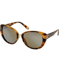 Givenchy Ladies SGV876-9AJX Brown Havana Sunglasses