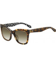 Kate Spade New York Ladies Emmylou-S S3P CC Havana Sunglasses