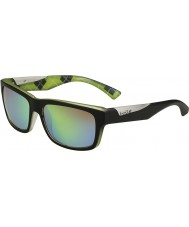 Bolle Jude Matt Black Lime Polarized Brown Emerald Sunglasses