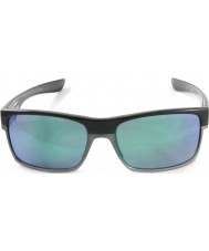 Oakley OO9189-04 TwoFace Polished Black - Jade Iridium Sunglasses