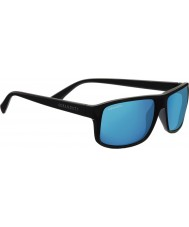 Serengeti Claudio Satin Dark Grey Polarized 555nm Blue Mirror Sunglasses