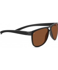 Serengeti Verdi Sanded Black Polarized Drivers Sunglasses