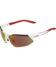 Bolle Breakaway Shiny White Orange TNS Fire Sunglasses