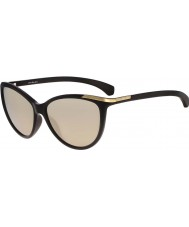 Calvin Klein Jeans Ladies CKJ767S Black Sunglasses