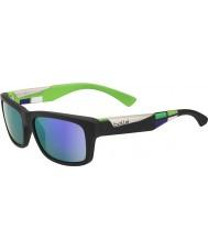 Bolle Jude Matte Black Blue-Violet Sunglasses