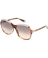 Givenchy Ladies SGV927-09AJ Brown Havana Sunglasses