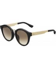 Jimmy Choo Ladies Pepy-S QFE JD Black Rose Gold Sunglasses