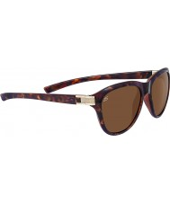 Serengeti Elba Red Moss Tortoiseshell Satin Brass Polarized Drivers Sunglasses