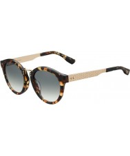 Jimmy Choo Ladies Pepy-S UYV BB Havana Gold Sunglasses