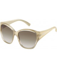 MaxMara Ladies MM S.Diego II 57E 6Y Gold Brown Sunglasses
