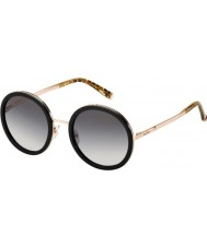 MaxMara Ladies MM Classy IV MDC EU Black Rose Gold Sunglasses