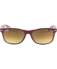 RayBan RB2132 52 New Wayfarer Matte Bordo On Transparent 605485 Sunglasses