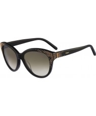 Chloe Ladies CE627S Black Sunglasses