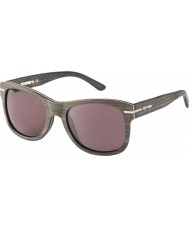 WeWOOD Crux Black Beige Strip 8240 Solid Tinted Brown Polarized Sunglasses