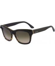 Valentino Mens V670S Black Havana Honey Sunglasses