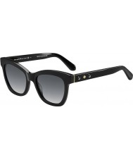 Kate Spade New York Ladies Krissy-S 807 F8 Black Sunglasses