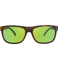 Revo RE1020 Lukee Dark Tortoiseshell - Green Water Polarized Sunglasses