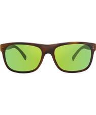 Revo RE1020 Lukee Dark Tortoiseshell - Green Water Polarized Sunglasses