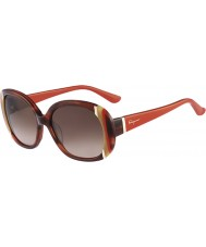 Salvatore Ferragamo Ladies SF674S Brown Horn Sunglasses