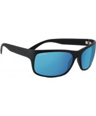 Serengeti Pistoia Satin Black Polarized 555nm Blue Sunglasses